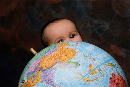 Baby Holding Globe Stock Photo - Rights-Managed, Code: 700-00015146