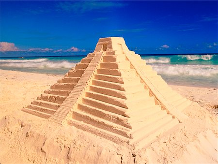 Mayan Sand Temple Cancun, Mexico Stock Photo - Rights-Managed, Code: 700-00017405