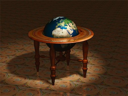Globe on Stand Europe and Africa Stock Photo - Rights-Managed, Code: 700-00018274