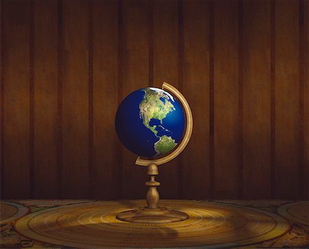 Globe on Stand Pacific Rim Stock Photo - Rights-Managed, Code: 700-00018275