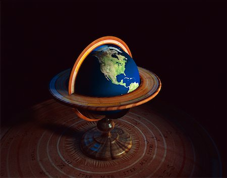 Globe on Stand North America Stock Photo - Rights-Managed, Code: 700-00018279