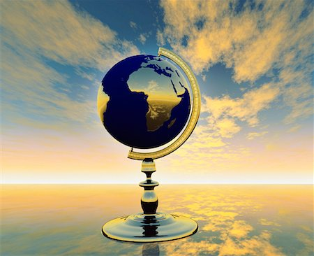 Globe on Stand Africa Stock Photo - Rights-Managed, Code: 700-00018388