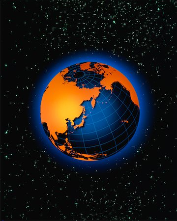 Globe Pacific Rim Stock Photo - Rights-Managed, Code: 700-00012091