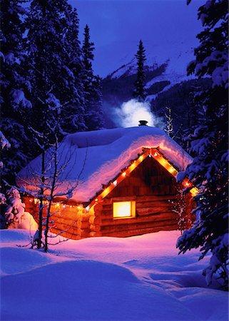 Cabin at Rampart Creek Banff National Park, Alberta Canada Stock Photo - Rights-Managed, Code: 700-00012165