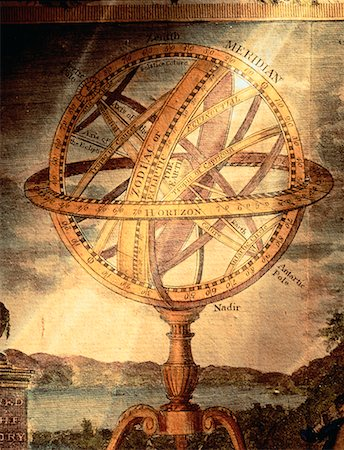 Illustratioin of Armillary Sphere Astronomical Instrument Stock Photo - Rights-Managed, Code: 700-00012223
