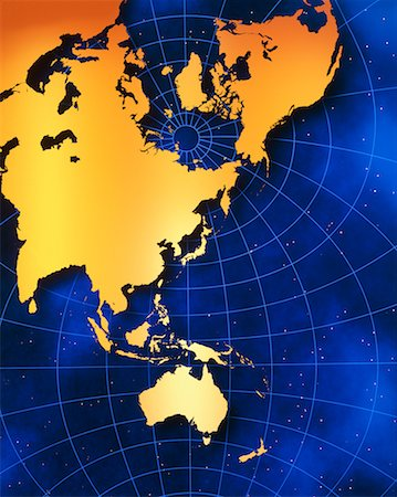 Map of Australia and Pacific Rim Stock Photo - Rights-Managed, Code: 700-00012382