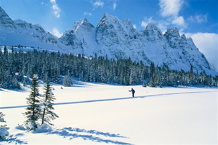 Cross-Country Skier in Tonquin Valley, Jasper National Park Alberta, Canada Stock Photo - Rights-Managed, Code: 700-00013246
