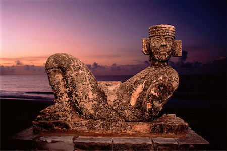 Mayan Chac Mool Cancun, Mexico Stock Photo - Rights-Managed, Code: 700-00013550