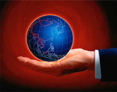 Hand Holding Globe Asia Stock Photo - Rights-Managed, Code: 700-00024715