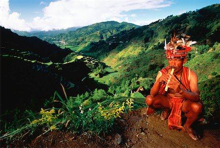philippine terrace farming - Ilfugas Tribesman, Banaue Rice Terraces, Banaue, Ulfugao Philippines Stock Photo - Rights-Managed, Code: 700-00025222