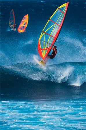 Windsurfers Hookipa Beach, Maui, Hawaii, USA Stock Photo - Rights-Managed, Code: 700-00025870