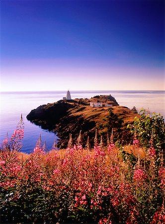 Swallowtail Lighthouse at Sunrise Grand Manan Island, New Brunswick Canada Stock Photo - Rights-Managed, Code: 700-00027446