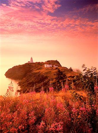 Swallowtail Lighthouse at Sunrise Grand Manan Island, New Brunswick Canada Stock Photo - Rights-Managed, Code: 700-00027447