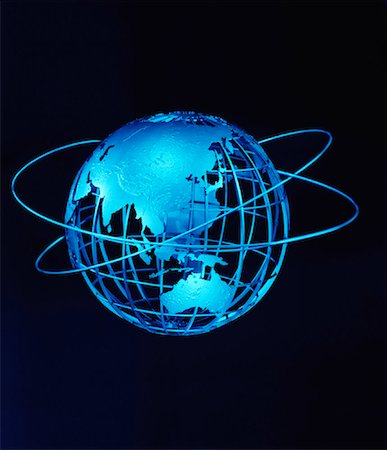 Wire Globe and Rings Pacific Rim Stock Photo - Rights-Managed, Code: 700-00028957