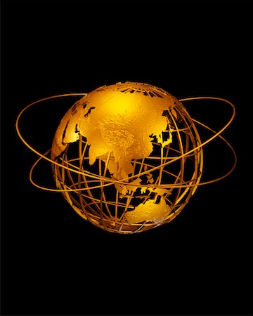 Wire Globe with Rings Pacific Rim Stock Photo - Rights-Managed, Code: 700-00028965