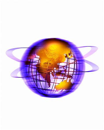 Wire Globe with Rings Pacific Rim Stock Photo - Rights-Managed, Code: 700-00028987