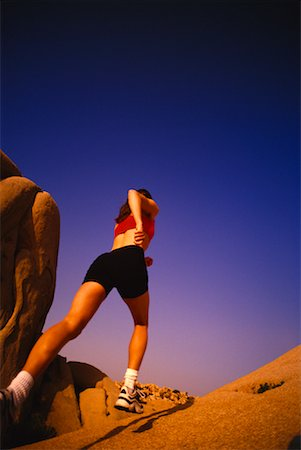 peter griffith - Back View of Woman Running on Rock Stock Photo - Rights-Managed, Code: 700-00029480