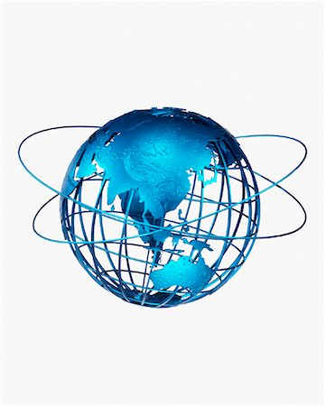 Wire Globe and Rings Pacific Rim Stock Photo - Rights-Managed, Code: 700-00029509