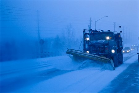 snow plow truck - Truck Shovelling Snow at Dusk Toronto, Ontario, Canada Stock Photo - Rights-Managed, Code: 700-00029573