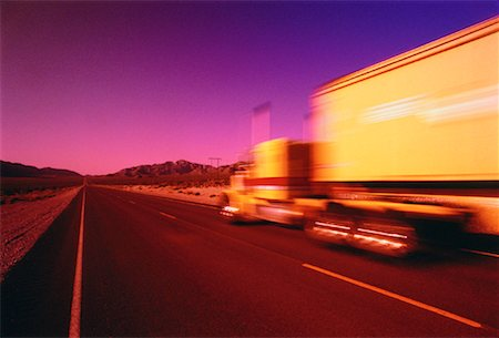 peter griffith - Blurred View of Transport Truck Stock Photo - Rights-Managed, Code: 700-00029785