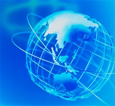 Wire Globe and Shadow Pacific Rim Stock Photo - Rights-Managed, Code: 700-00021917