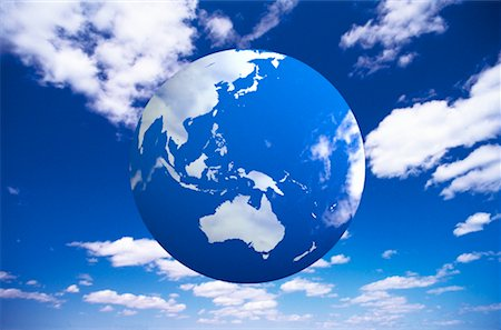 Globe and Sky Pacific Rim Stock Photo - Rights-Managed, Code: 700-00022057