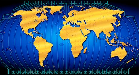 World Map with Time Zones Stock Photo - Rights-Managed, Code: 700-00023368
