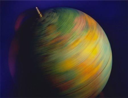 Close-Up of Spinning Globe Stock Photo - Rights-Managed, Code: 700-00023545