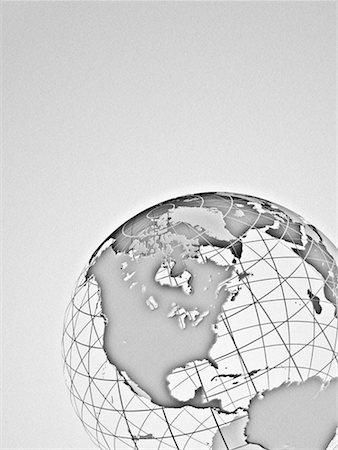 Wire Globe North America Stock Photo - Rights-Managed, Code: 700-00023849