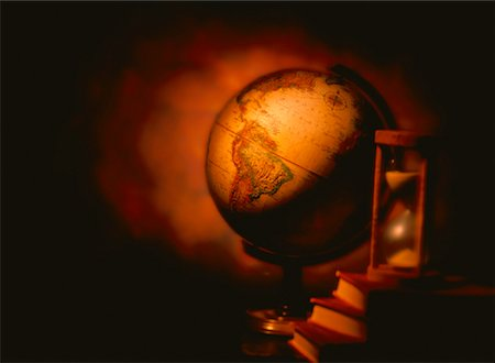 Globe with Books and Hourglass South America Stock Photo - Rights-Managed, Code: 700-00023943