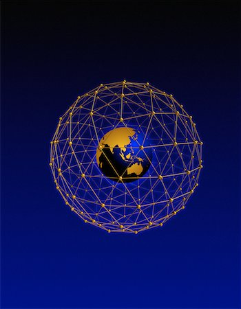 Globe in Wire Sphere Pacific Rim Stock Photo - Rights-Managed, Code: 700-00034300