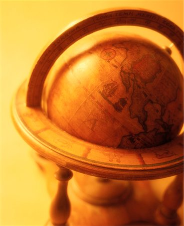 Antique Globe on Stand Stock Photo - Rights-Managed, Code: 700-00035619