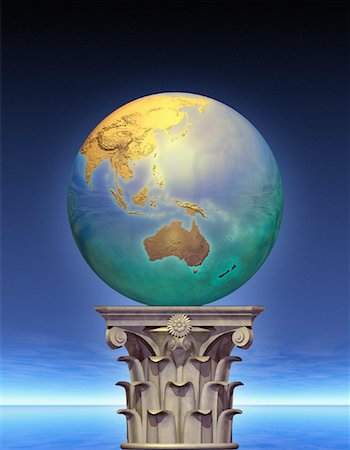 Globe on Pedestal Pacific Rim Stock Photo - Rights-Managed, Code: 700-00036177