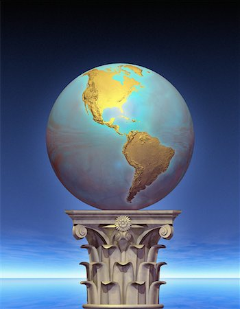Globe on Pedestal North and South America Stock Photo - Rights-Managed, Code: 700-00036188