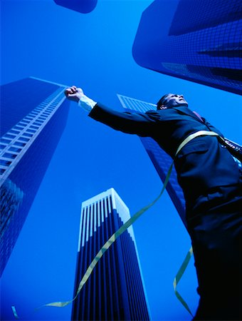 peter griffith - Businessman Crossing Finish Line Stock Photo - Rights-Managed, Code: 700-00036725