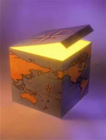 World Map on Box Stock Photo - Rights-Managed, Code: 700-00037365
