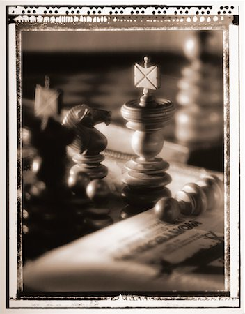 Close-Up of Chess Pieces Stock Photo - Rights-Managed, Code: 700-00030096