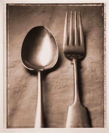 Spoon and Fork Stock Photo - Rights-Managed, Code: 700-00031407