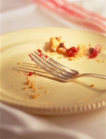 Crumbs on Fork and Plate Stock Photo - Rights-Managed, Code: 700-00031653