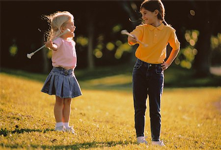 Girls with Batons Outdoors Stock Photo - Rights-Managed, Code: 700-00044776