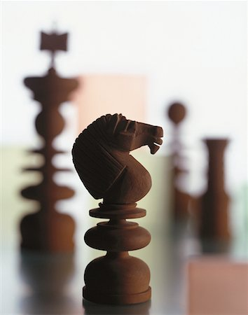 Close-Up of Chess Pieces Stock Photo - Rights-Managed, Code: 700-00045245