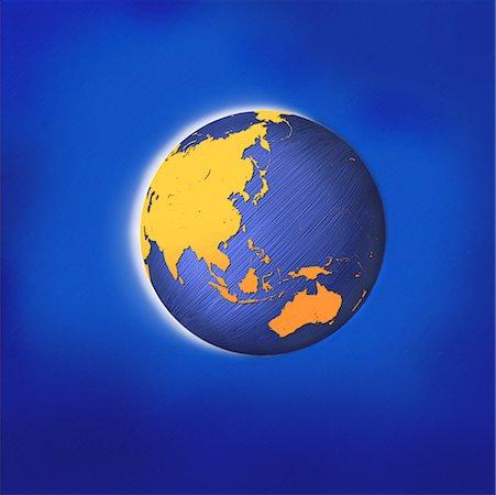 Globe Asia and Australia Stock Photo - Rights-Managed, Code: 700-00045876