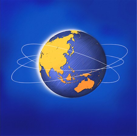 Globe with Rings Asia and Australia Stock Photo - Rights-Managed, Code: 700-00045879