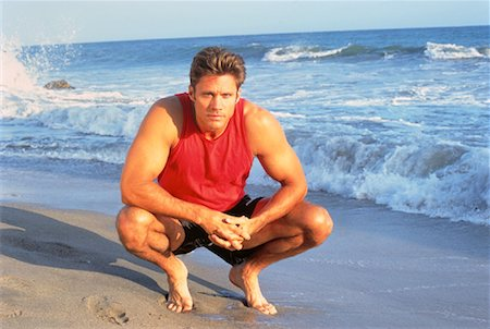 peter griffith - Portrait of Man on Beach Stock Photo - Rights-Managed, Code: 700-00046430