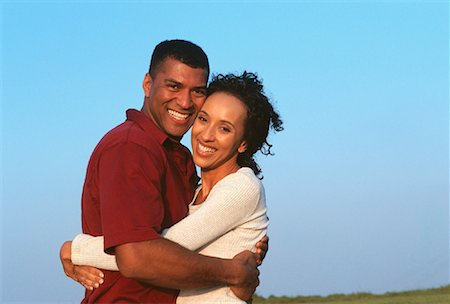 peter griffith - Portrait of Couple Embracing Outdoors Stock Photo - Rights-Managed, Code: 700-00046488