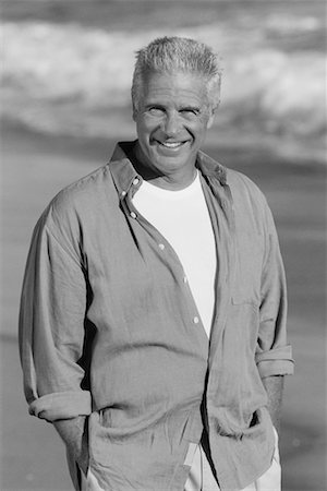 peter griffith - Portrait of Mature Man on Beach Stock Photo - Rights-Managed, Code: 700-00046881
