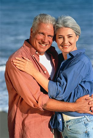 peter griffith - Portrait of Mature Couple Embracing on Beach Stock Photo - Rights-Managed, Code: 700-00047641