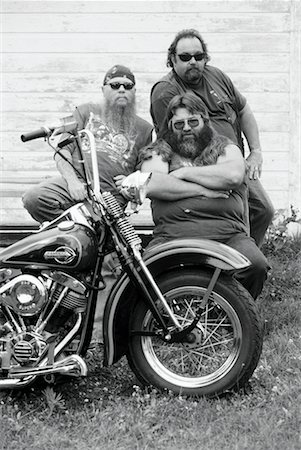 Portrait of Bikers with Motorcycle Marmora, Ontario, Canada Stock Photo - Rights-Managed, Code: 700-00047677