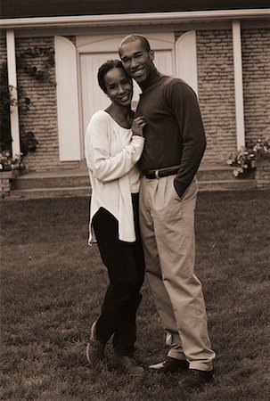 peter griffith - Portrait of Couple Standing Outdoors Stock Photo - Rights-Managed, Code: 700-00041074