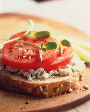 Close-Up of Sandwich Stock Photo - Rights-Managed, Code: 700-00041268
